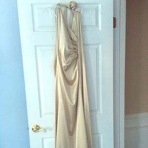 Jessica McClintock gold gown size 2